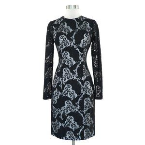 Sue Wong Black Lace Open Back Sexy Fitted Dress 6